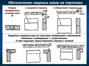 обозначение сварки на чертеже