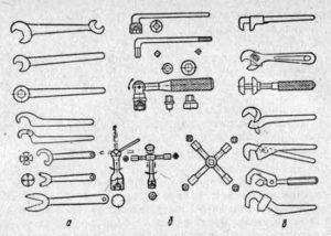 Какие существуют виды гаечных ключей