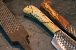 Как правильно сделать нож из напильника